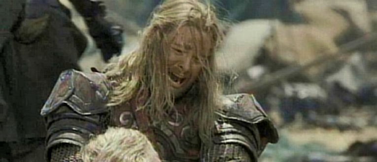 Eomer mourns Theoden and Eowyn
